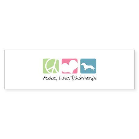 Peace, Love, Dachshunds Sticker (Bumper)