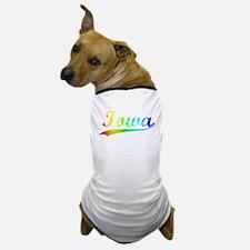 Iowa, Vintage Rainbow Dog T-Shirt