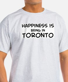 Happiness is Toronto Ash Grey T-Shirt