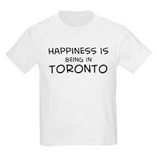 Happiness is Toronto Kids T-Shirt