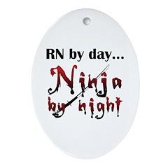 Nurse Ninja Ornament (Oval)