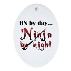 Nurse Ninja Ornament (Oval)