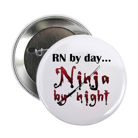 """Nurse Ninja 2.25"""" Button (10 pack)"""