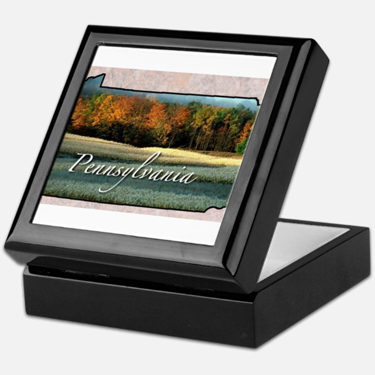 Cute Pennsylvania Keepsake Box