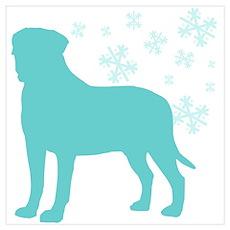 Bullmastiff Snowflake Poster