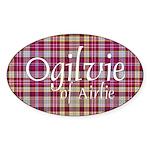 Tartan - Ogilvie of Airlie Sticker (Oval 10 pk)