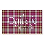 Tartan - Ogilvie of Airlie Sticker (Rectangle)