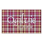 Tartan - Ogilvie of Airlie Sticker (Rectangle 10 p