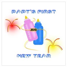 Baby's first New Year Poster
