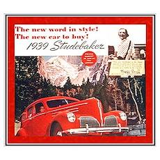"""1939 Studebaker Ad"" Poster"
