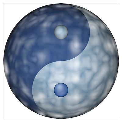 Small yin yang cloud Poster
