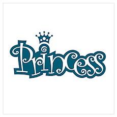Princess - Blue Poster