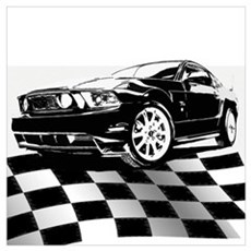 2011 Mustang Flag Poster
