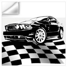 2011 Mustang Flag Wall Decal