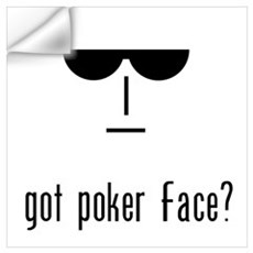 got poker face Wall Decal