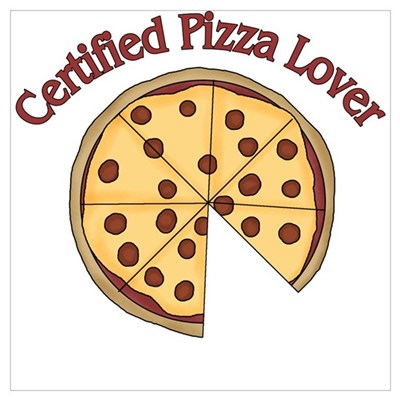 Certified Pizza Lover Framed Print