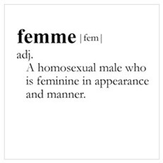 FEMME (gay) / Gay Slang Poster