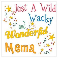 Wild Wacky Mema Poster
