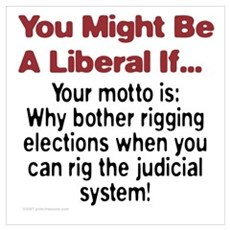 Liberals Hijacking The Judiciary Framed Print