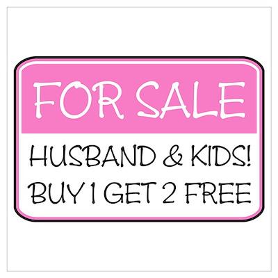 4SALE HUSB/KIDS (pnk) Poster
