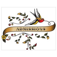 Admissions Scroll Poster