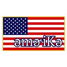 Phonetics America Canvas Art
