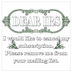 Dear IRS Canvas Art