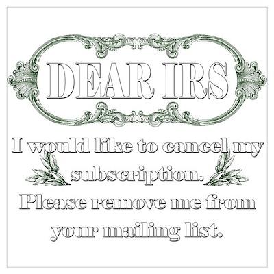 Dear IRS Poster