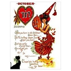Halloween Birthday Girl Poster