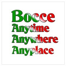 Bocce Anytime Anywhere Anyplace Canvas Art