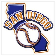 San Diego Baseball Poster