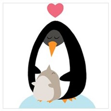 Penguin Love Poster