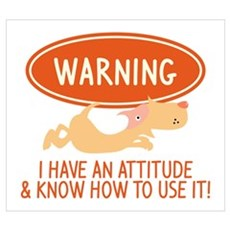 I Have An Attitude Poster