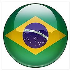 Brazil Flag Jewel Poster