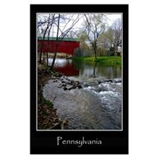 Covered Bridge, Oley, PA Poster