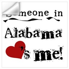 Someone in Alabama Wall Decal