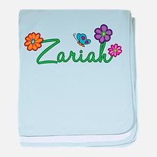 Zariah Flowers baby blanket