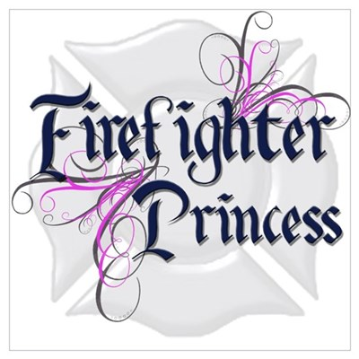 Firefighter Princess Tribal Poster