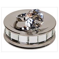 Diamond ring on mirror Poster
