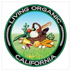Living Organic California Poster