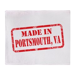 MADE IN PORTSMOUTH, VA Throw Blanket