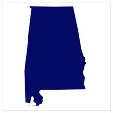Alabama - Blue Poster