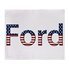 Ford Stars and Stripes Throw Blanket