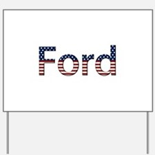 Ford Stars and Stripes Yard Sign