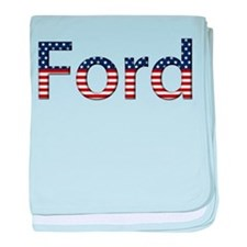 Ford Stars and Stripes baby blanket
