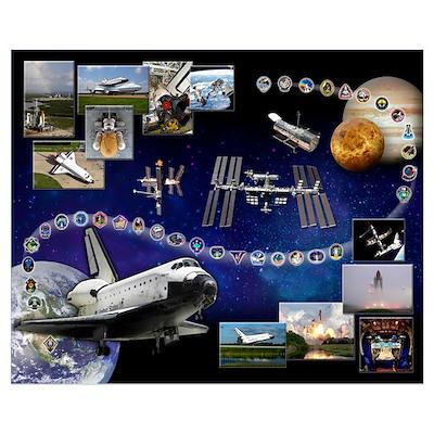 Atlantis Space Shuttle Poster