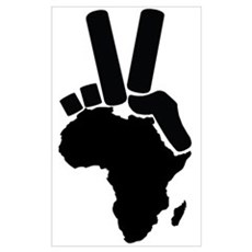 Africa Peace Sign Poster