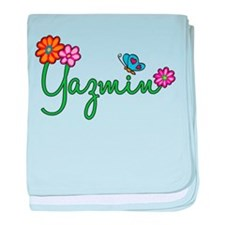 Yazmin Flowers baby blanket