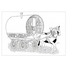Gypsy Wagon Color Your Own Framed Print