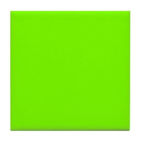 Chartreuse Tile Coaster